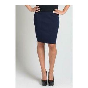 St John Basics Navy Knit Skirt Size 4